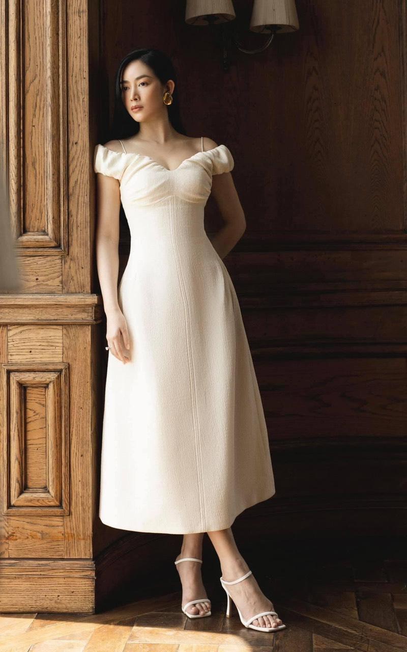 Đầm xòe thiết kế nữ tính cao cấp